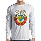 Hoz y martillo para hombre de camisa de mangas largas SML-XXL Rusia comunista Manga Larga