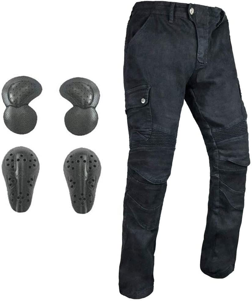 Seasonal Wrap Introduction Men Women Motorcycle Riding Jeans Pants with Protective Kne CE Max 58% OFF
