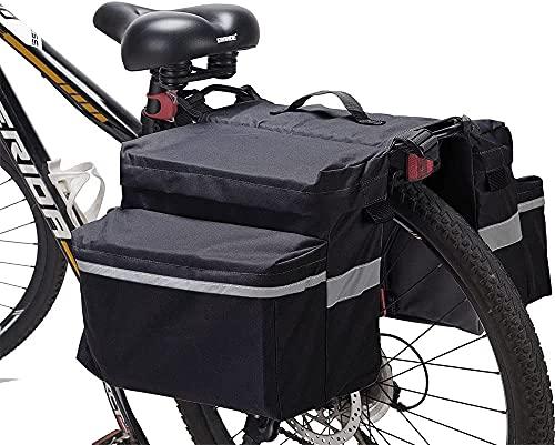 Bolsa Alforja Trasera para Bicicleta,Gran Capacidad Alforjas para Bicicletas,Multifuncional Alforja Maletero Impermeable Reflectante,para Bicicleta,Portaequipajes y Alforjas (1#)
