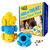 Dog Puzzle Toys for Boredom, 4 Pack, Chew Teething and Treat Dispensing - for Medium to Large Dogs - Endless Fun for Your Dog