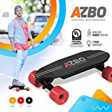 AZBO Portable Mini Electric Skateboard with Remote Control 400W Motor UL2272 Certified Motorized C9 Skateboard with Wireless Remote | 11 MPH Top Speed Electric Longboard (Red)