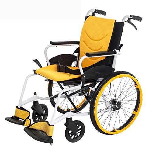 Manueller Rollstuhl, Tragbare Falten Transit- Stuhl Vollgummireifen Atmungsaktive Gewebe Gehäuse Aus Aluminiumlegierung Geeignet Für Behinderte (Gewicht 11 Kg)