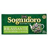 Sognid'Oro Tisana Rilassante con Passiflora, Camomilla, Melissa e Biancospino, 20 x 2g