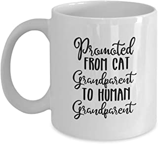 Promoted From Cat Grandparent To Human Grandparent : Pregnancy Announcement Gift Coffee Mug