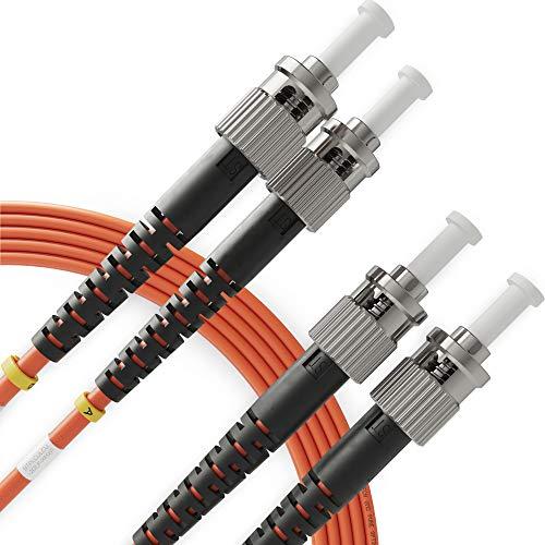 ST to ST Fiber Patch Cable Multimode Duplex - 1m (3.28ft) - 50/125um...