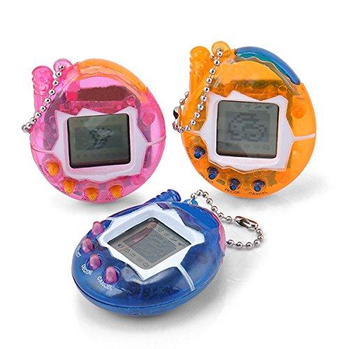 Yidarton Elektronisches Haustier Miniatur Spielzeug Virtuelle Haustier Spielmaschine 49 Tiere Fantasie Überraschung 90s