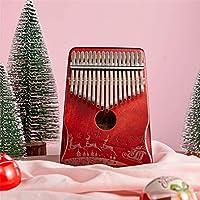 SEAAN カリンバ17キーサムピアノ アフリカン楽器 無垢材ハンマー 学習ガイド クリーニングクロス パッキングボックス 初心者向けポータブル楽器ギフト