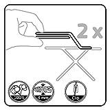 LaundrySpecialist Basic Größe L/XL Bügelbrettbezug, aus 100% Baumwolle, mit extra Dicker Schaumschicht (3 mm). Für alle großen und extra großen Bügelbretter. Extra dampfdurchlässig - 4