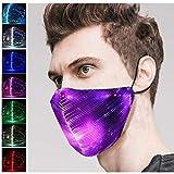 Kaliwa LED Maske, Halloween Mask Partymaske mit 7 Farben und 5 Blitzmodi,passt für Erwachsene &...