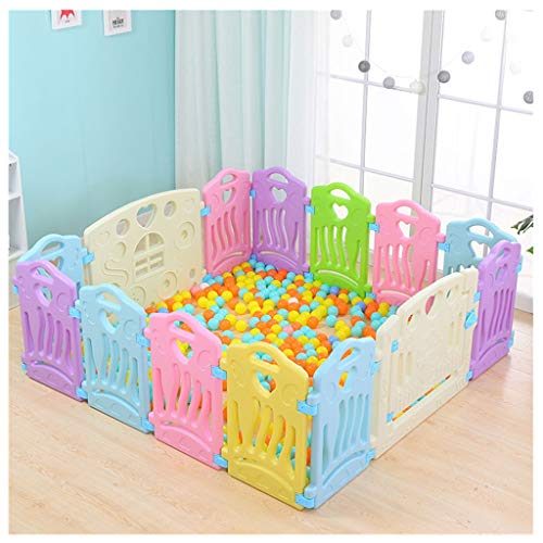 Fewear Playpen for Baby Safe Play Yard Play Pen Toddle Foldable Activity Centre Indoor and Outdoor Baby Fence for More Than 1 Year Old, USA Stock (Multicolour)