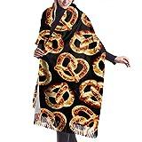 MISS-YAN Moda a lungo scialle grande formato di Foodie Salatini donne inverno caldo Lattice Grande Sciarpa