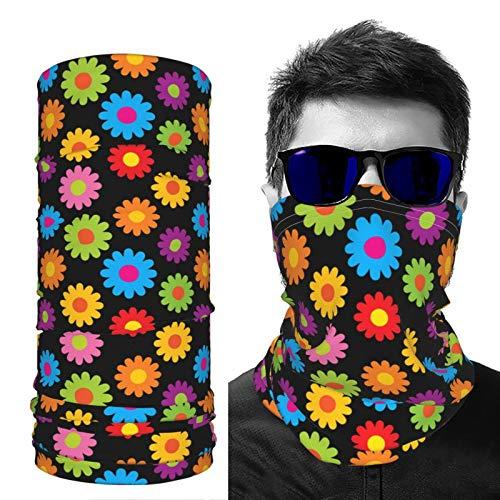 saibing Pañuelo de seda para el cuello, a prueba de polvo, transpirable, colorido hippie, protección solar, ligera, para hombres y mujeres