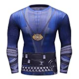Cosfunmax Superhero Shirt Compression Sports Shirt Runing Fitness Gym Men's Base Layer (Ds, L)