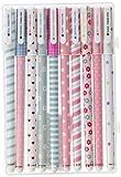 Katara bolígrafo en una caja, 10 colores diferentes 10er Kugelschreiber septiembre, multicolor, fino