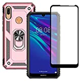 Yiakeng Huawei Y6 2019 Case With Tempered Glass Screen