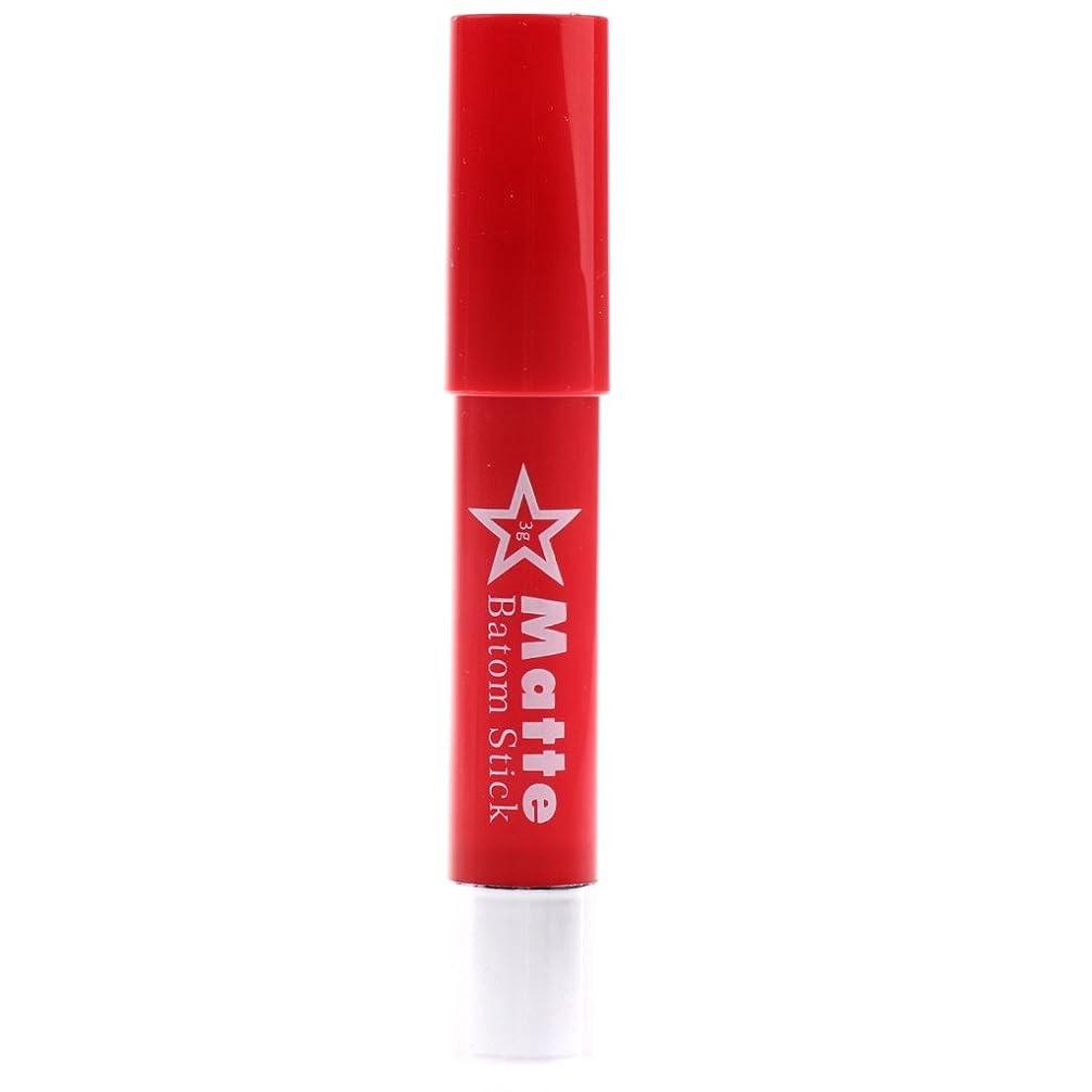 月曜先例些細Baosity リップスティック 口紅 長持ち 保湿 高彩度カラー ポータブルサイズ 使用便利 全6色選べ - #F