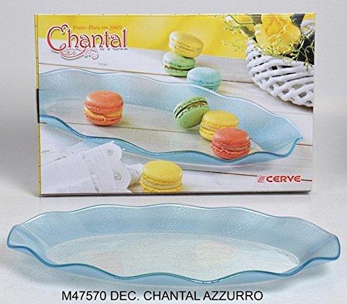 ERREBI Plat Ovale Chantal Bleu m47570