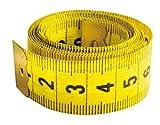 Cinta métrica costura amarilla. 150 x 2 cm. Metro de costura para sastre flexible, suave y plano. - REF. 795