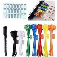 Das Paket beinhaltet: 250 x Kabelbinder in 7 Farben (weiß, schwarz, blau, grün, orange, gelb, rot) zur einfachen Authentifizierung, 4 Blätter mit speziellen Aufklebern Einfach zu verwenden und leicht zu beschreiben: Auf Netzwerkkabel anwenden Stromle...