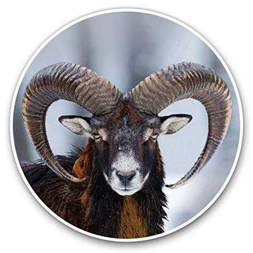 2 x 30cmVinyl Stickers - Mouflon Ovis Orientalis Horned Goat Decals for Car Van Luggage Scrap Book Fridge #16860