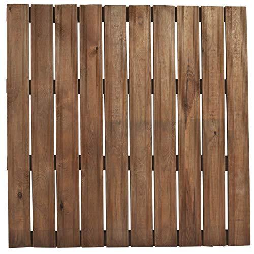 Dalle de terrasse en pin modèle 'Bolénia' (100 x 100 - 18 x 96 - 36)