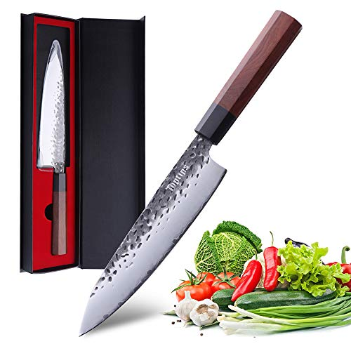 Chef's Knife Pro Kitchen Knife 8 Inch gyutou knife High Carbon German Stainless Steel octagonal handle with Ergonomic