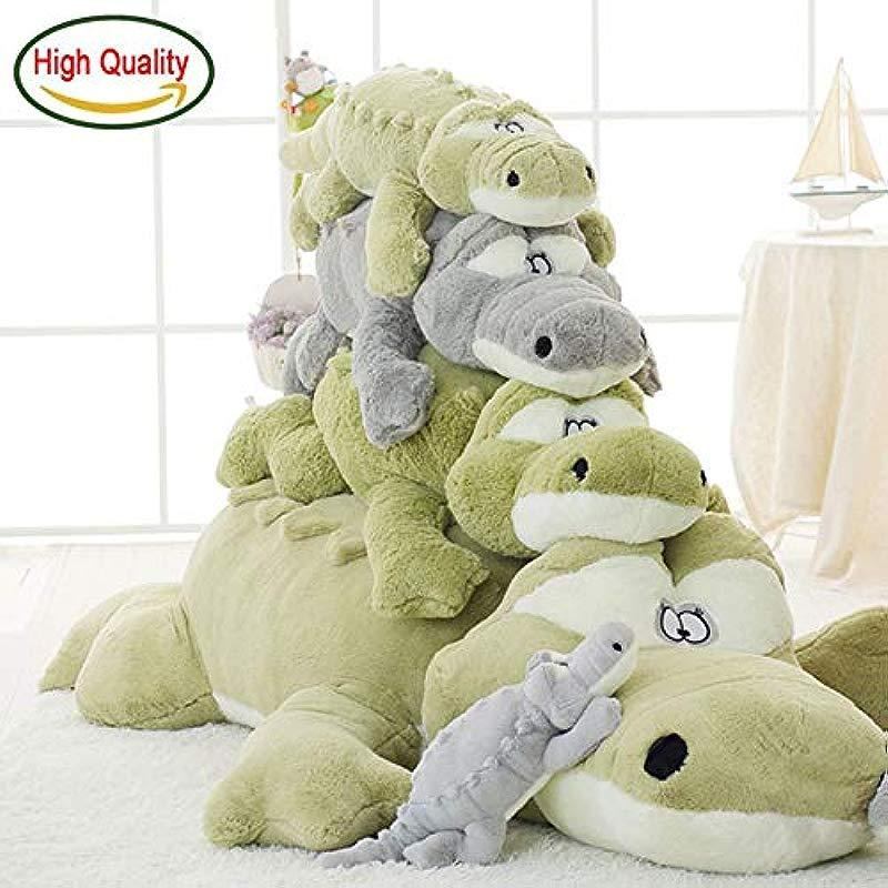 PPH3 Shine 65 97 118 145cm Fuzzy Plush Crocodile Stuffed Toy Animals Pillow Kids Nap Pillow Companion Crocodile Toy 65CM Light Green