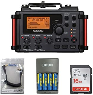 Tascam DR-60DmkII 4-Channel Portable Recorder with 16GB Memory Card, 3.5mm Stereo Cable, Charger with 4 AA Batt Bundle