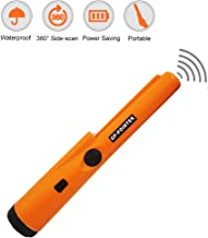 JACIKA Portable Hand-held Metal Detector 360° Scanning Unearthing Treasure Finder Buzzer Vibration with High Sensitivity Pin Pointer Metal Detector Waterproof Pinpointing Probe