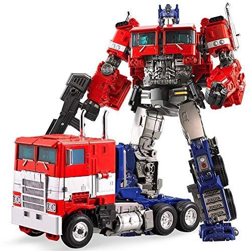 MFWJ Aleación de Juguetes, Película Optimus Prime, deformado Modelo de niños Regalo de cumpleaños - 31cm