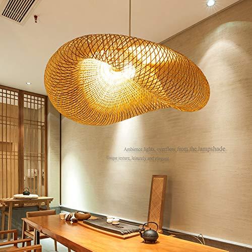 Vintage hanglampen E27 hanglamp hanglamp retro hanglamp natuurlijke bamboe geweven rotan in hoogte verstelbaar sfeerlamp restaurant theestube cafe lampenkap kroonluchter lampen 100 cm