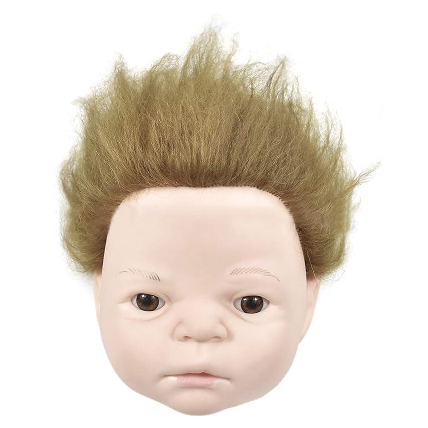 箱フェザー去る練習理髪散髪ヘッドモデルリアルヘアドールヘッド形状教育ヘッドサロン教育学習マネキンヘッド
