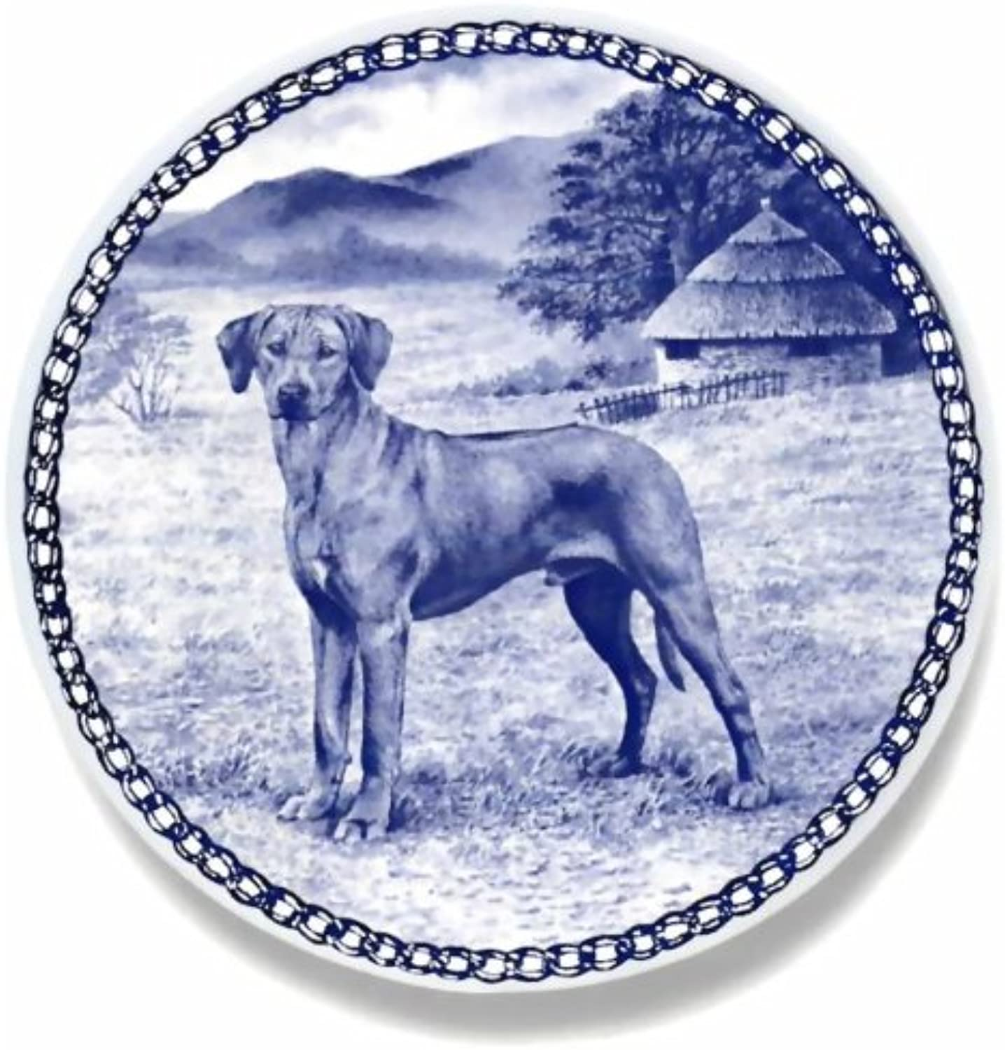 Rhodesian Ridgeback   Lekven Design Dog Plate 19.5 cm  7.61 inches Made in Denmark NEW with certificate of origin PLATE  7417