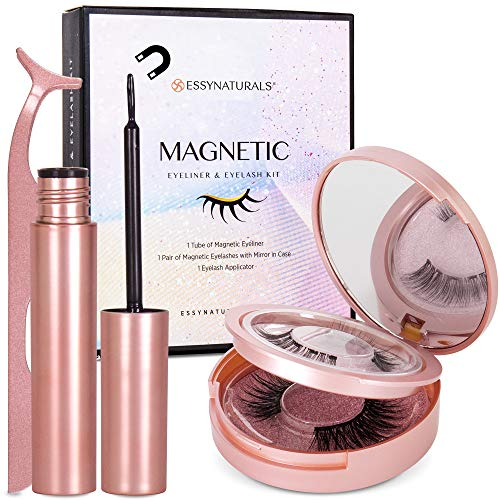 Magnetic Eyeliner and Lashes Kit, Magnetic Eyeliner for Magnetic Lashes Set, 2 Pair Reusable Lashes