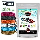 ANTISUMM 12 Stück Mückenschutz Armband Leder Family Pack | Abwehr & Schutz gegen Mücken und...