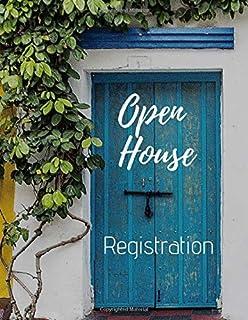 Open House Registration: Real Estate Agents Guest & Visitors Signatures - Prospects Sign In Registry Book - Property Developers - Blue Door