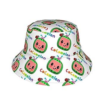 Coco-Melon Baby Sun Hat UPF 50+ Sun Protective Bucket Nice Beach Hat for Beach Swim Baby Girl Boy Adjustable