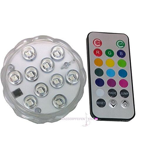 AMY Shisha LED Licht groß mit Fernbedienung 7 cm für Wasserpfeife
