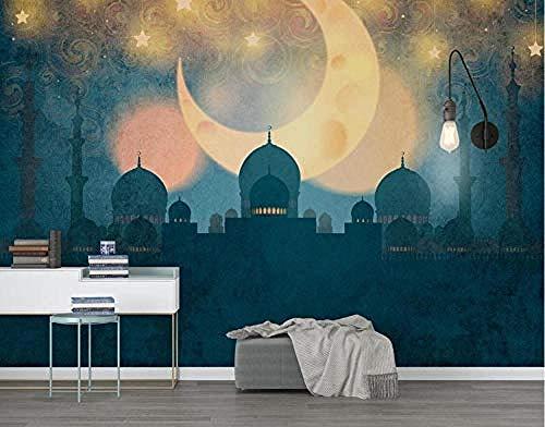 ZZXIAO Moschee Seitenwand Tapete Moschee für zu Hause Schlafzimmer Wohnzimmer Tapete Wandverkleidung Dekora wandpapier fototapete 3d effekt tapete Wohnzimmer Schlafzimmer Hintergrundbild-300cm×210cm