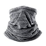 WEEYEE Sciarpa coprente per il viso, per uomo e donna Protezione solare, Sciarpa scaldacollo, Scaldacollo invernale Scaldacollo Sciarpa antivento, CORSA all'aperto in inverno (grigio)