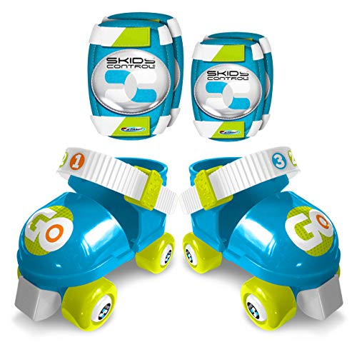 Stamp Set Rollers + E/K Pads Blue Skids Control, Taille 23-27 Roller, Boys, Azul & Blanco