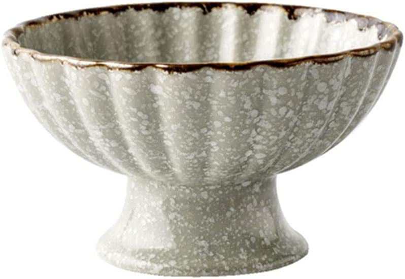 Quality inspection Creative Price reduction Personality Japanese Retro Home Bowl Ceramic High-foot