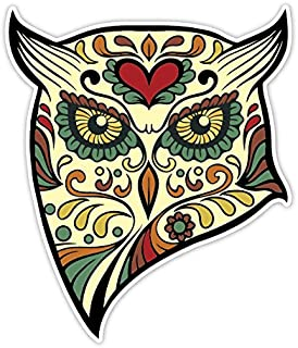 OSMdecals - Animal Owl Sugar Skull Sticker Version 40 - Day of the Dead Vinyl Wall Home Decor Car Window Bumper Decal Sticker