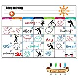 SEA or STAR Calendario de pizarrón magnético para Nevera Organizador de Plan mensual para marcar menú/Eventos / Calendario/Mensaje