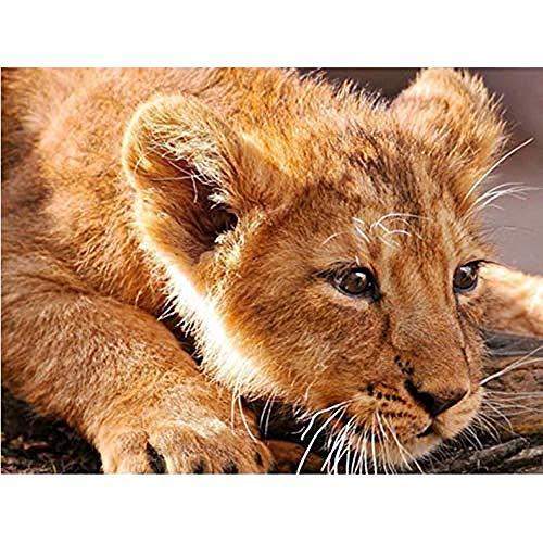 ZAWAGU 5D pintura de diamantes DIY regalo manual León mosaico punto de cruz bordado strass fotos paisaje mascotas arte hogar redondo completo Foret Foret