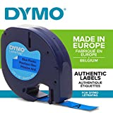 Dymo LetraTag Plastic Label Tape, 12 mm x 4 m Roll - Blue