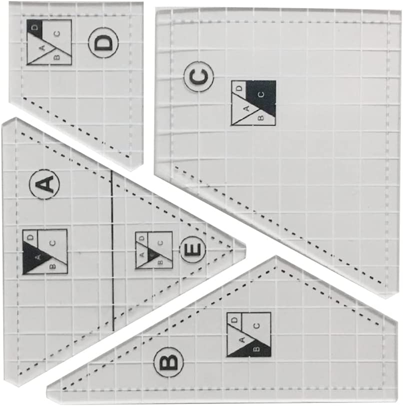 BROWSHAPER Pack of 5 Complete Ruler Quilting Template Set Max Outstanding 42% OFF Sewing