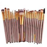 Leisial - Set de 20 pinceaux à maquillage (Or)