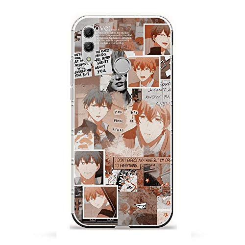 X-Art Transparent Case for Huawei P Smart 2019/Honor 10 Lite, Given-Guitar Anime 8 Fundas Slim Silicone Liquid Flexible Cover