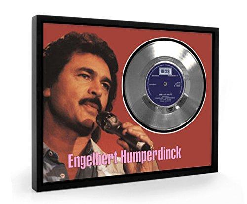 Engelbert Humperdinck The Last Waltz Framed Disco d'argento Display Vinyl (C1)